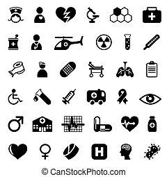 medyczne ikony
