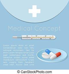 medyczne pojęcie, zdrowie, tło, troska