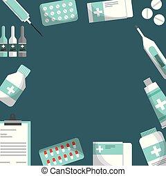 medyczne zdrowie, karta, troska