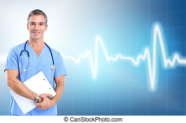 medyczny doktor, cardiologist., zdrowie, care.