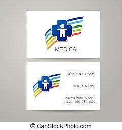 medyczny, karta, szablon