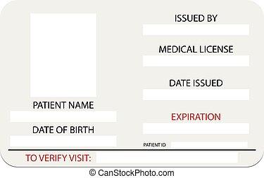 medyczny, pozwolenie, karta