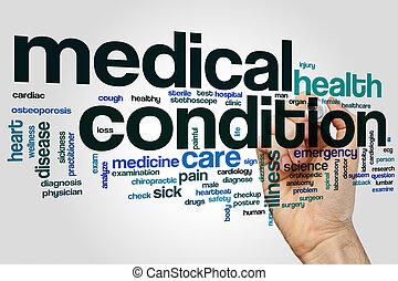 medyczny, słowo, warunek, chmura