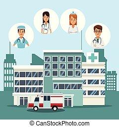 medyczny, szpital, drużyna