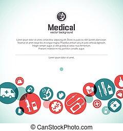 medyczny, tło, ilustracja, troska