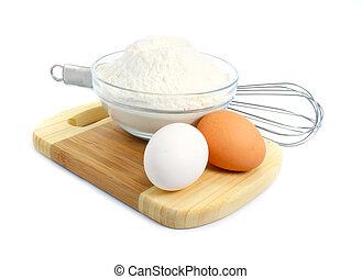 meel, eitjes, doug, ingredienten