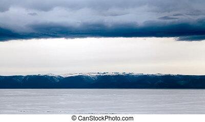 meer baikal, bergen, landscape, timelapse