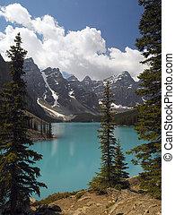 meer moraine, -, nationaal park banff, -, canada