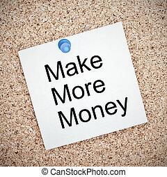 meer, plank, geld, merk papier op, maken, gespeld, kurk