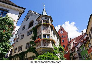 Old Town of Meersburg in Baden Wurttemberg, Germany