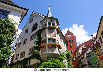 Meersburg, Germany - Old Town of Meersburg in Baden...