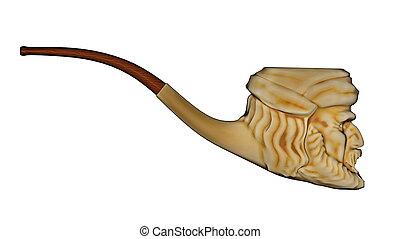 Meerschaum pipe - 3D render