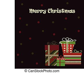 Meery Christmas background with gifts