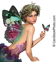Meet a Butterfly CA - a little fairy with a butterfly in her...