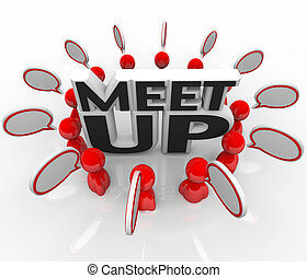Meet-Up People Talking Meeting Speech Bubbles