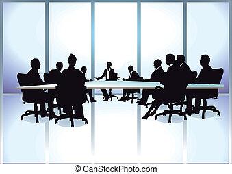 meeti, gruppo, persone affari