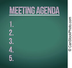 meeting agenda list illustration design