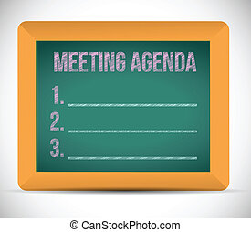 meeting agenda list illustration