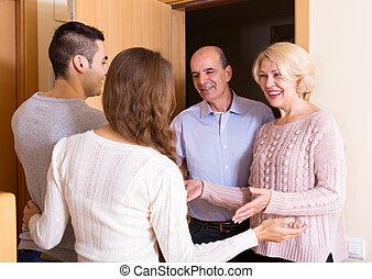meeting at the door