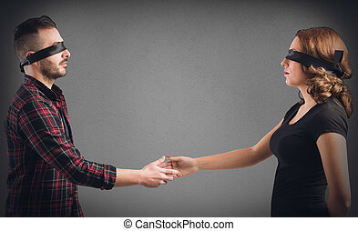 Meeting between strangers - Strangers man and woman...