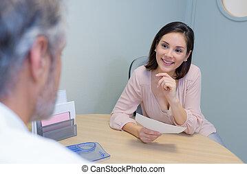 meeting between two people