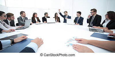 meeting business partners for round - table