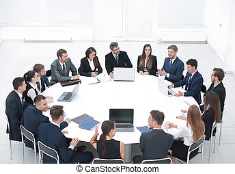 meeting business partners in the conference room. - meeting...