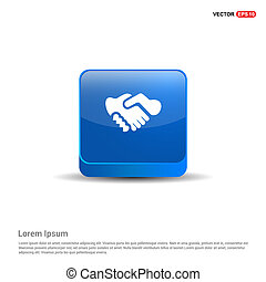 Meeting Icon - 3d Blue Button