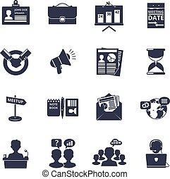 Meeting icons black