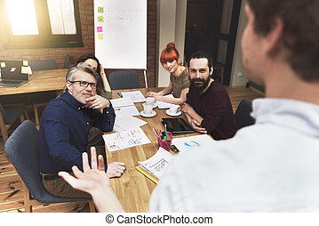 Meeting of business creative people