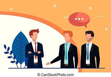 meeting of businessmen talking avatar character