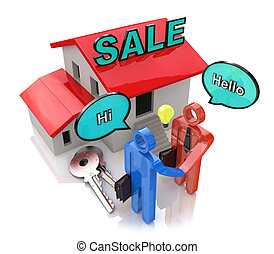 Meeting of buyer and seller