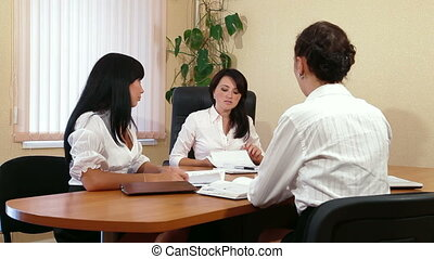 Meeting of Colleagues  in Office