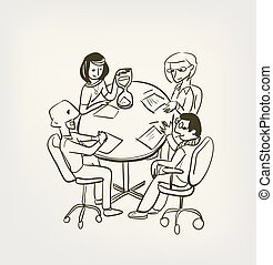 meeting office time out vector illustration sketch doodle