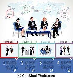 Meeting People Infographics Set