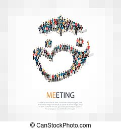 meeting people sign 3d