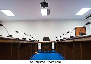 Meeting room empty no people
