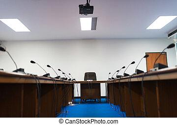 Meeting room empty no people