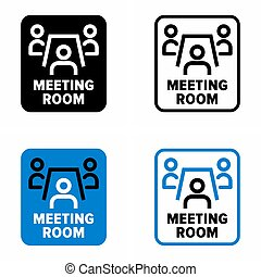 """""""Meeting room"""" for business conferences and singular events, provided hall information sign"""