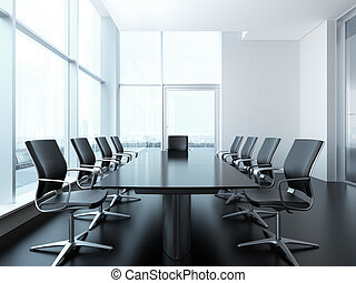 meeting room interior. 3d render scene
