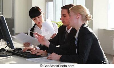 Meeting - Businesspeople interacting at meeting