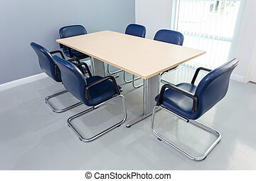 Meeting table in the room