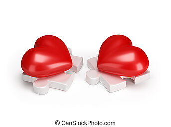 Meeting two lovers of hearts
