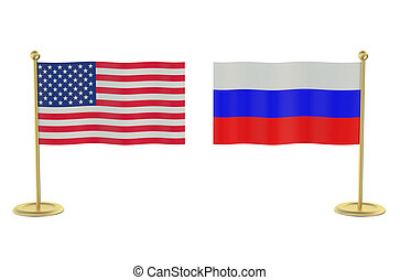meeting USA with Russia concept