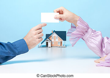 Meeting with real estate broker
