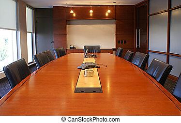 meetings., incorporado, escrivaninha