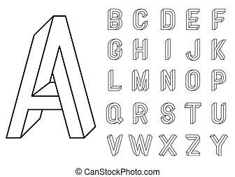 meetkunde, onmogelijk, letters.