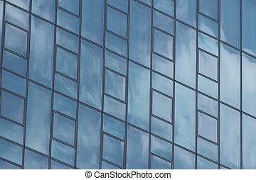 meetkunde, venster, wolkenkrabber, textuur