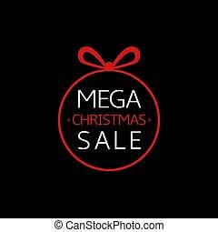 Mega Christmas sale icon