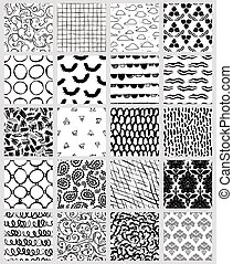 Mega collection of artistic seamless pattern designs